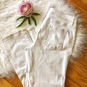 Loft White Jean Crop Pants 8